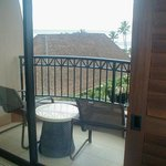 view of balcony from inside room
