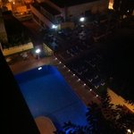room 820 view of pool at night