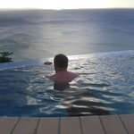 View from infinity plunge pool on villa balcony