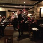 the bag piper on burns night!