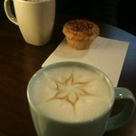 muffin spéculos et chocolats chauds au chocolat blanc