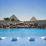 Pool Area Pyramids View