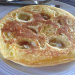 try the banana/pineapple pancake!
