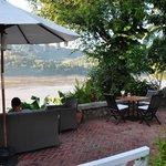 restaurant overlooking the Mekong