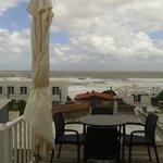 Vista de la terraza en un día de tormenta