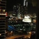 Nighttime view from room to west
