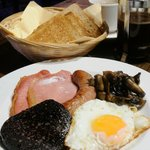 English breakfast for residents