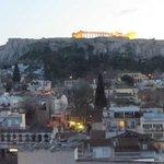 La Acrópolis desde la terraza