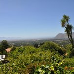 View over Constantia towards False Bay