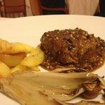 filetto flambè al pepe con verdure grigliate