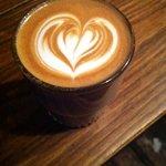 an arty latte