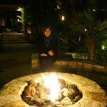 Enjoying the fire on a cool January night