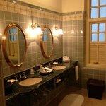Spacious bathrooms