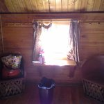 inside our 6 person cabin w/o bathroom