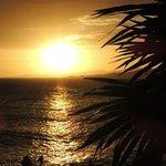 tramonto dalla spiaggia