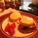 Eggs Benedict with Smoked Salmon & Cherry Tomatoes