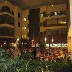 Hotel lobby/dining area