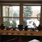 View from breakfast room on freshly fallen snow