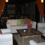 Sala de estar en la terraza