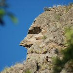 """The """"Man in the Mountain,"""" located just outside the back door of The Bungalow."""