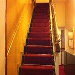 Stair to upper floors