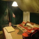 Tent with king-sized bed