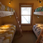 Double and Single Beds in the Sawtooth Range Bunk Room