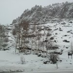 Montaña en frente del hotel
