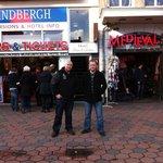 Andy B & the Boys!! Outside Hotel Van Gelder
