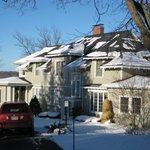 Lakeside B&B winter - snow is glistening