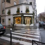 This is the wonderful pastry shop past the hotel, it is very inexpensive, and