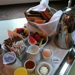 the virginia hotel breakfast for 2. assorted breads, eggs, fresh fruit, mmmm g