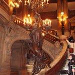 Escalera central teatro de la Opera de Paris