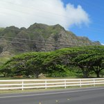The scenery from Honolulu to Turtle Beach