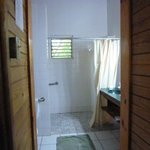 Roomy bath with walk-in shower