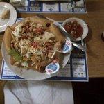 my giant, tasty chicken taco salad