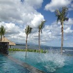 view onto pool
