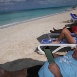 Taking in Grace Bay in relax mode