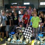 Group Of Teens Full On Drifting.