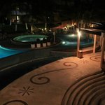 A night shot I took one evening at Sunset Fisherman's overlooking their pool a