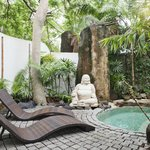 Delightful gardens and plunge pool