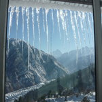 View from Devi Darshan Lodge during winters