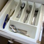 Dirty and chipped cutlery drawer