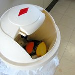 Bin with broken and missing lid