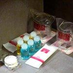 Les échantillons de la salle d'eau