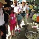 With Mr. Khoa on fish market