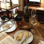 Comte, bread, wine! perfect