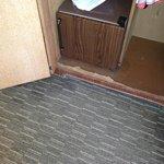 Damaged closet