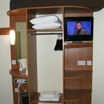 TV and wardrobe