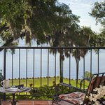 Private balcony views of the St John's River